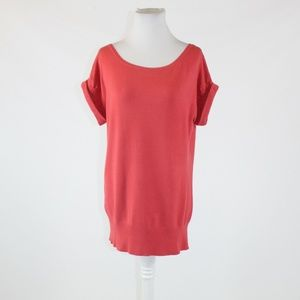 Salmon pink THE LIMITED scoop neck sweater M